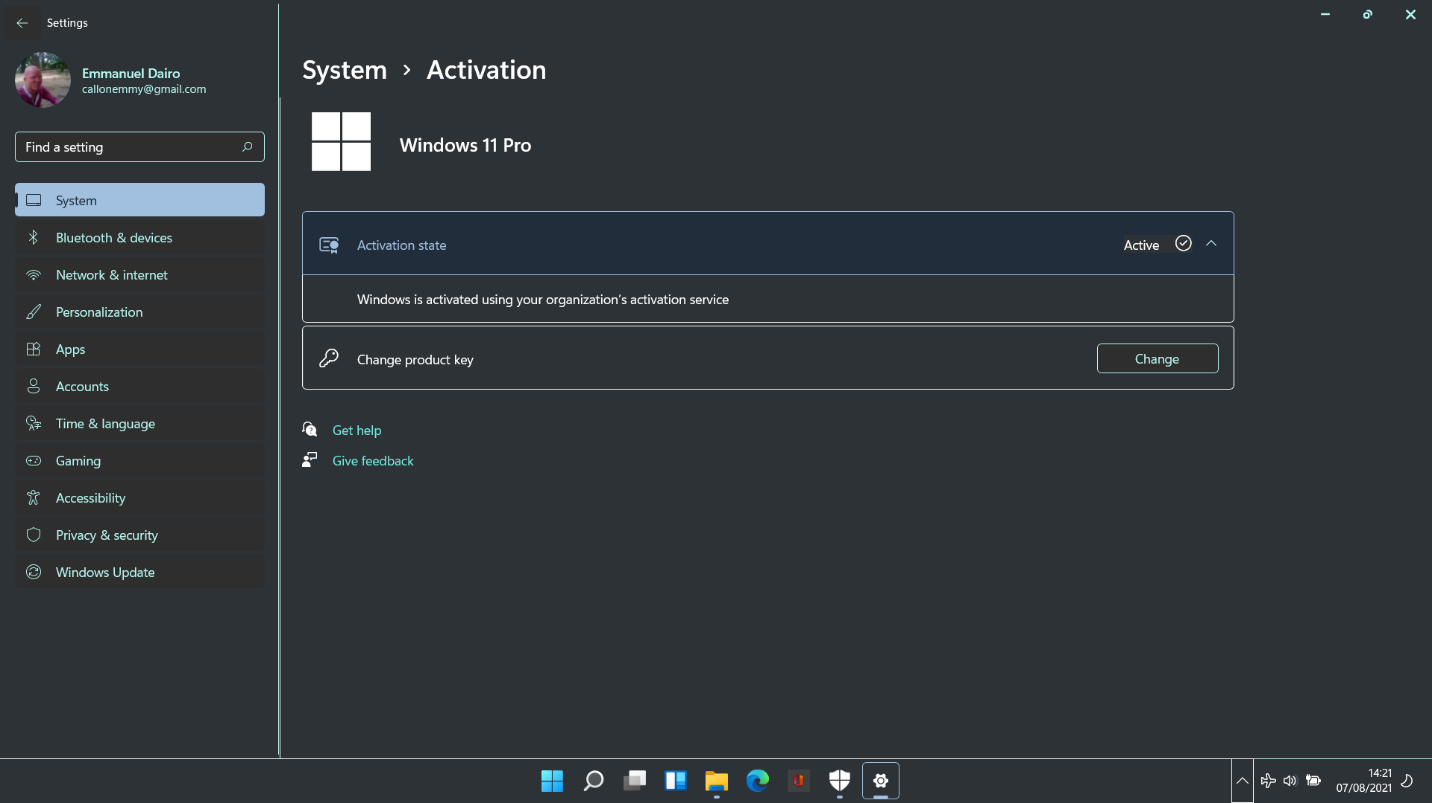 How to see Windows 11 activation state?