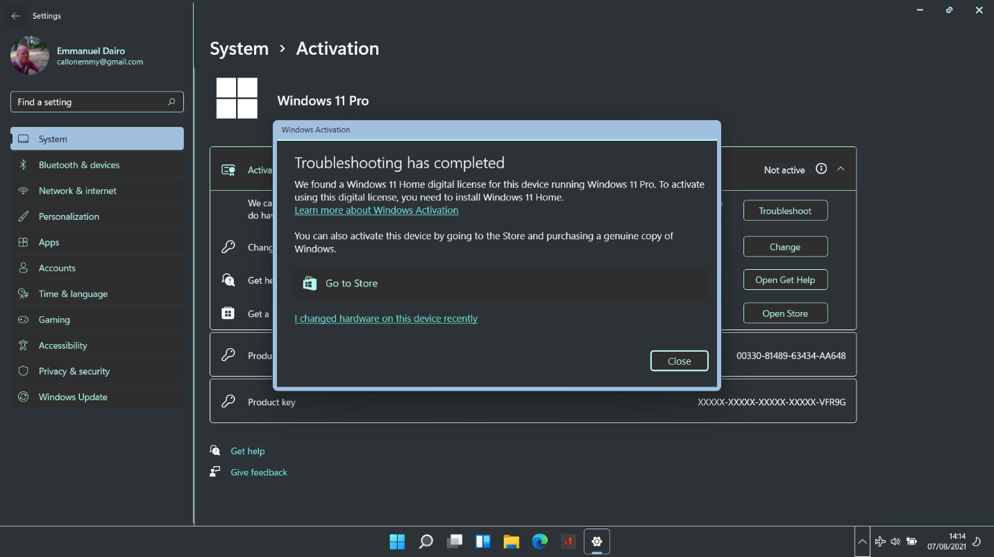 How to fix Windows 11 Troubleshooter to fix activation errors?