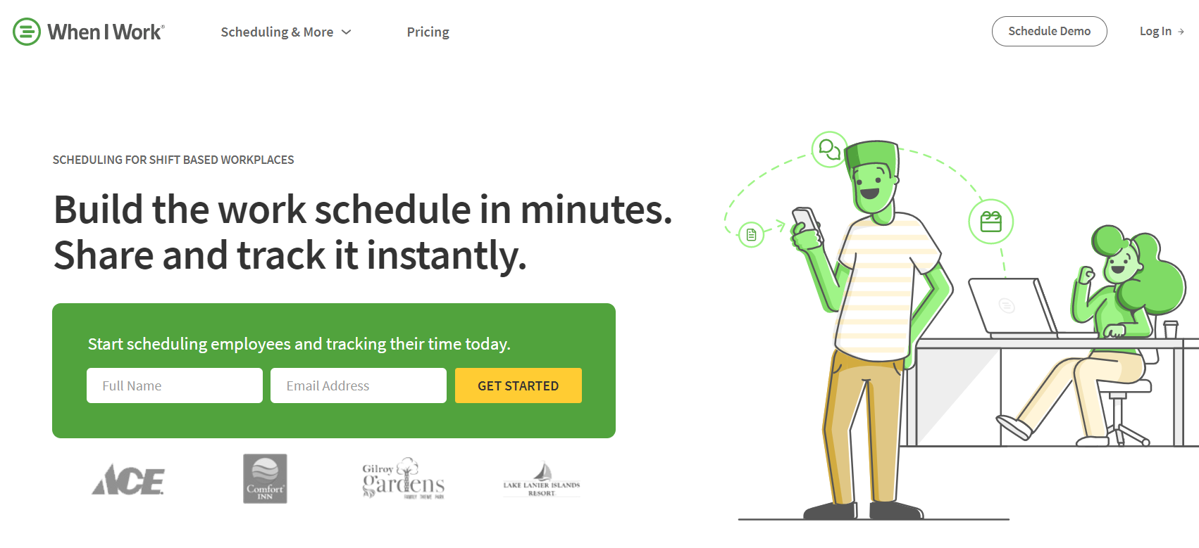 Notable features of When I Work time tracking app