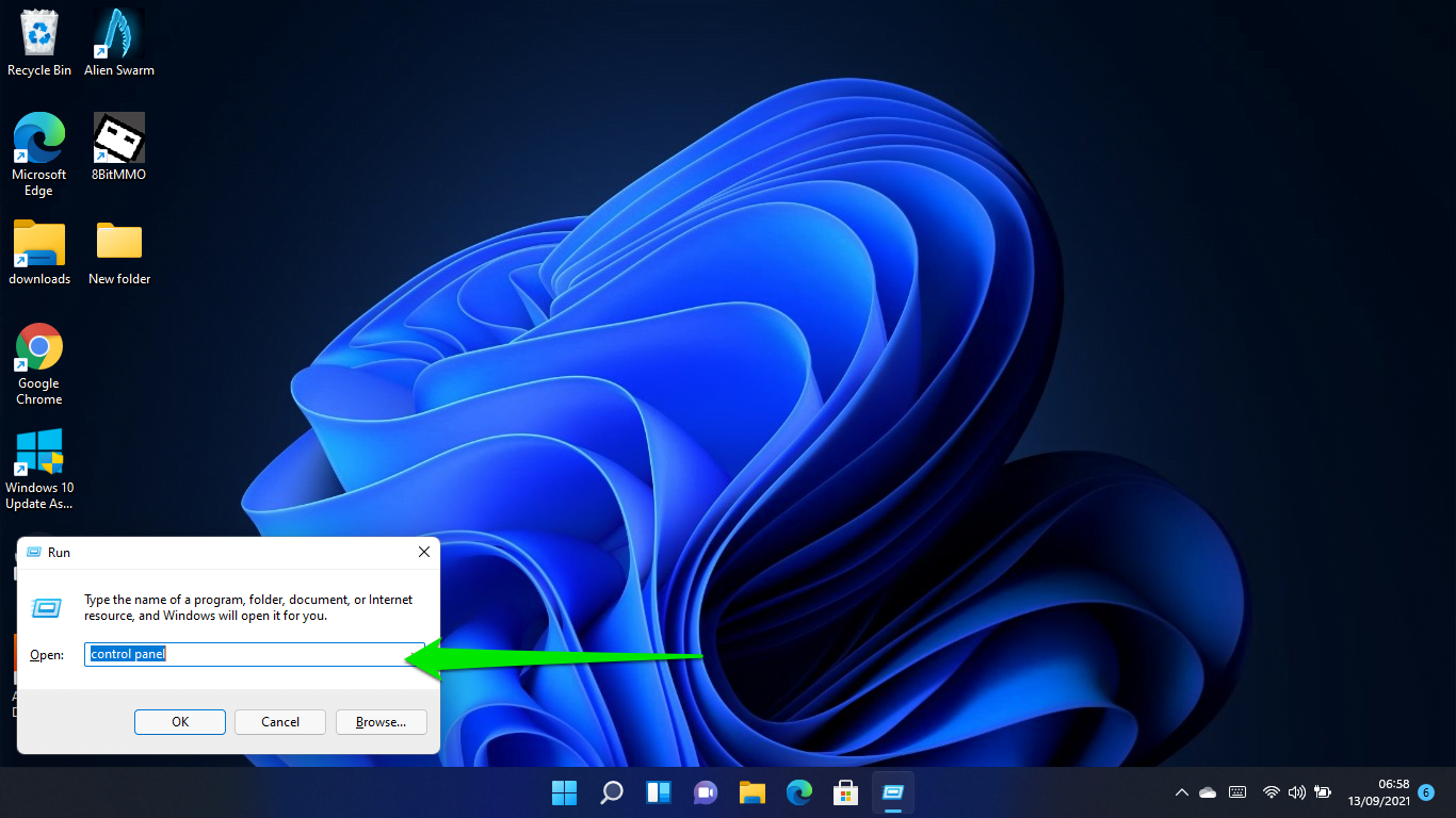 How to change the time and date in Windows 11 using the Control Panel