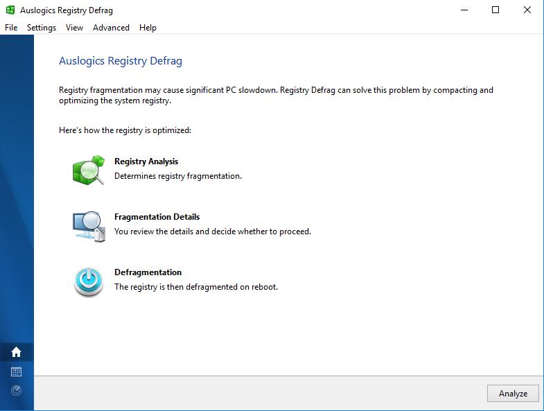 Windows 7 Auslogics Registry Defrag 12.4.0.1 full