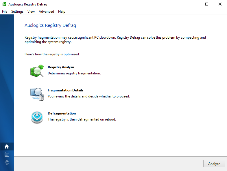 Full Auslogics Registry Defrag screenshot
