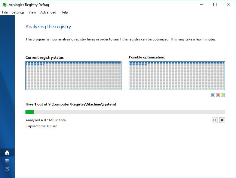 Auslogics Registry Defrag screenshot