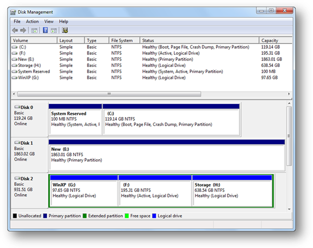 partition hard drive