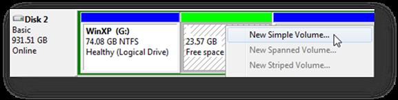 partition external hard drive