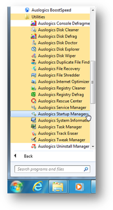 remove programs from startup